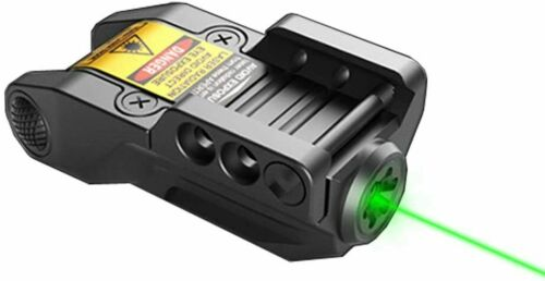 Low Profile Rechargeable Pistol Green Laser Sight, for Handgun, Rifle with Rail