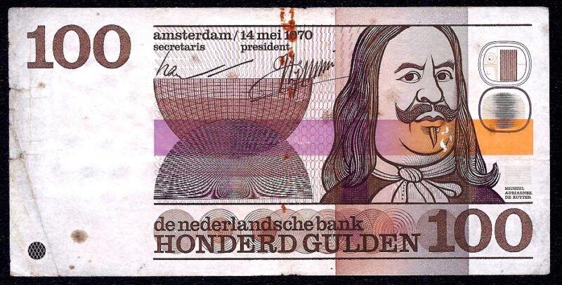 Netherlands 100 Gulden 1970 P-93