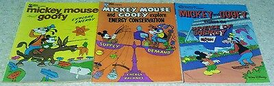 Mickey Mouse   Goofy Explore Energy 3 Books  Nm  9 2  Guide  33  My Price  16 50