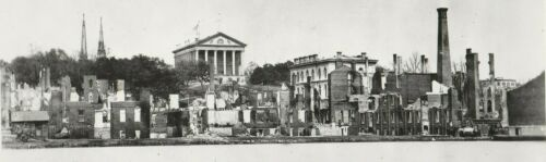 Civil War -- Richmond Panorama Looking North Circa 1865 -- Modern Reproduction