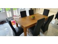 6 x black Faux leather dining room chairs £20