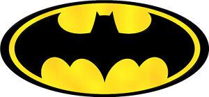 Retro, traditional, BATMAN logo * Iron On T-Shirt Transfer