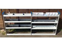 Van Racking / Shelving - SORTIMO - 6 Shelves - 6 Storage Boxes - Very Good Condition