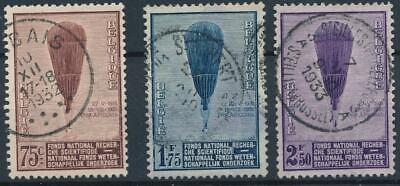 [117] Belgium 1932 ballons good set very fine used stamps