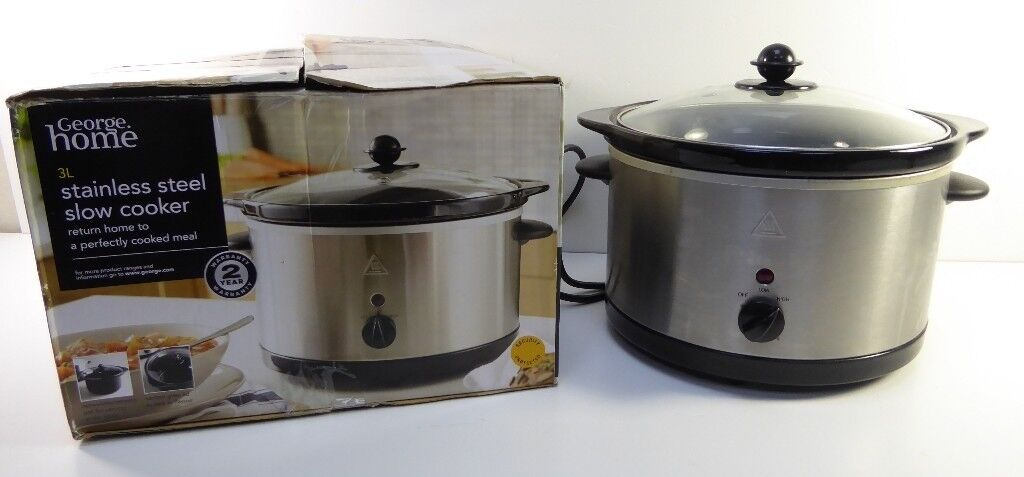 3L Stainless Steel Slow Cooker 1605880