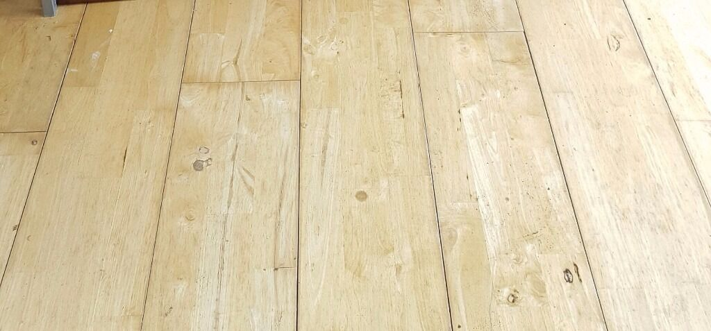 Approx 12 Square Meters Solid Wood Pale Hard Tongue And Groove