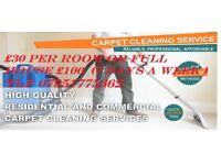£30 per room full house £100 deodorised pet odour removal fresh smell cherry