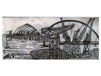 Artist local to Inverclyde, paintings of the River Clyde and Inverclyde's ship building