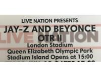 BEYONCE AND JAY Z OTR II tour tickets LONDON STADIUM SATURDAY 16th JUNE