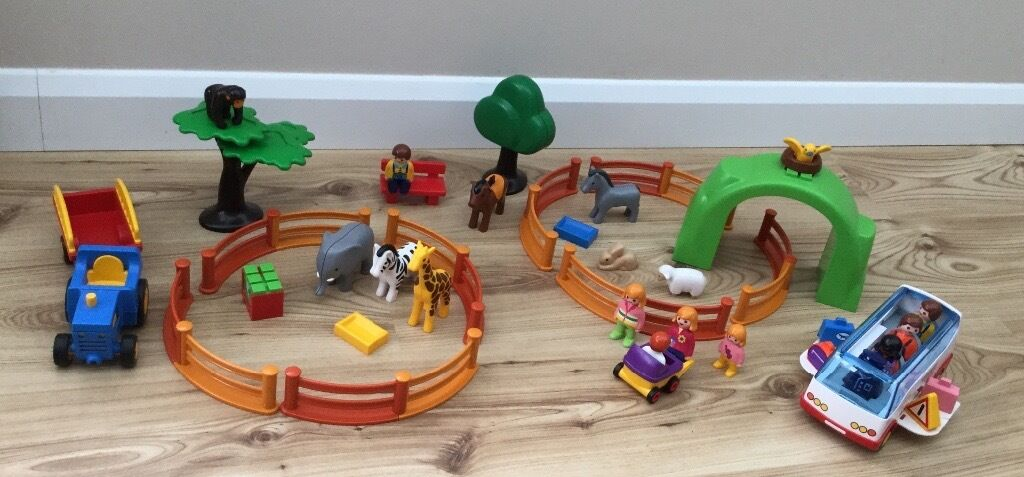 Playmobil 123 Large Zoo 6754Playmobil 123 Coach 6773in Worthing, West SussexGumtree - Playmobil 123 Large Zoo 6754 & Playmobil 123 Coach 6773 Large Zoo Currently priced at £45 on EBay  Enjoy a fun day out with your Playmobil® friends at the Playmobil® 123 Large zoo, its bustling with lots of animals and accessories. A giraffe,...
