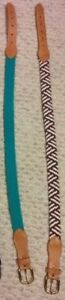 2 Brand New Braided Belts - A great accessory to any outfit