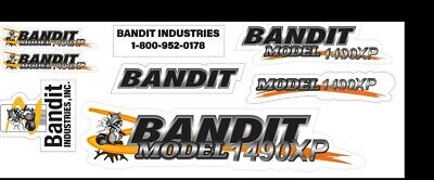 Brush Bandit Wood Chipper Model 1490xp Decal Kit