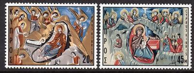 Cyprus MNH 1969 SG340-41 Christmas