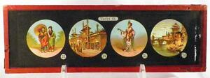 Antique-Glass-Slide-Japanese-Women-Pagodas-Magic-Lantern-Tafel-IX-1880s-AS-IS