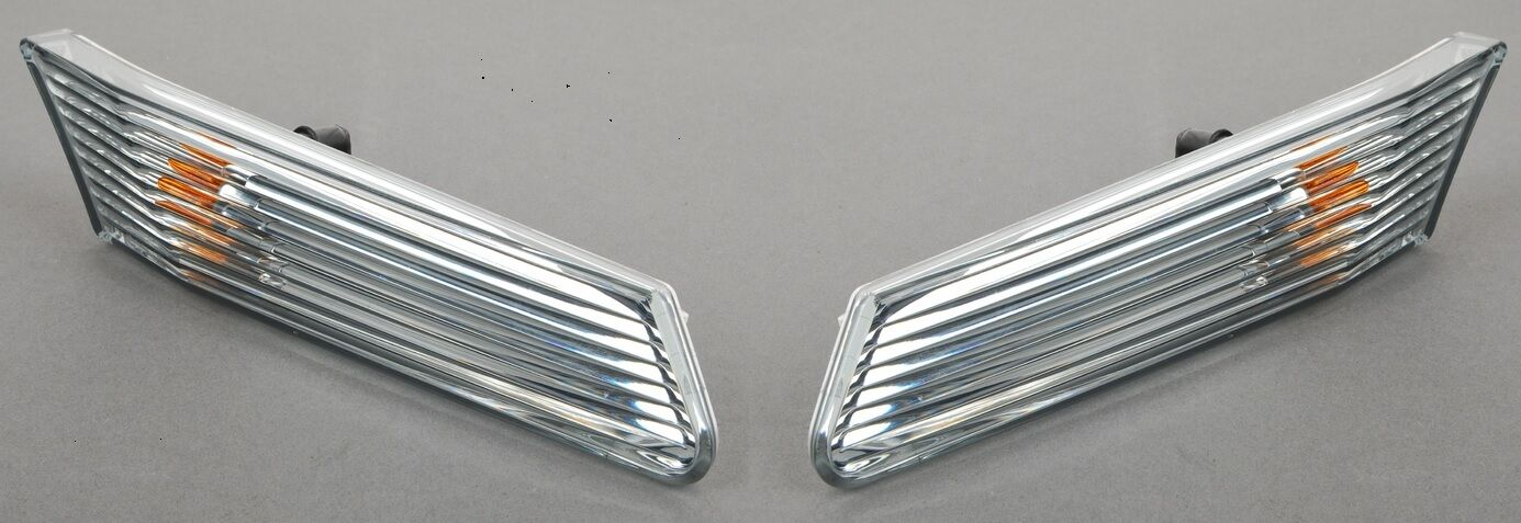 Porsche Boxster Cayman OEM Euro Clear Front Side Marker Turn Signal Lights Set