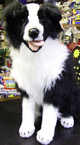 Border Collie Black & White soft toy dog teddy 22 inch