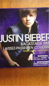 Justin Bieber Backstage Pass Board Game