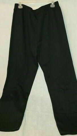 Hanes EcoSmart Ladies Black Open Leg Sweatpants - Elastic Wa