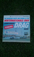 1964 Winternationals Drag Racing Album Pomona California Plates