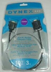 New! -Dynex 6' VGA Monitor Replacement Cable (DX-C102111)