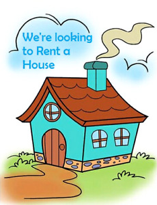 Young professional couple looking for a house to rent