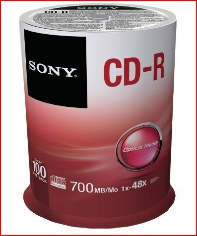 Sony 100/pack 700mb CD-R Spindle
