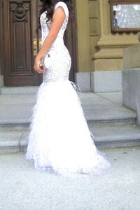 Beautiful Jasz Couture White Embellished Gown Edmonton Edmonton Area image 3