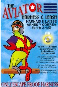 (MAGOG) Harnais et Laisse pour oiseau the aviator DVD inclus