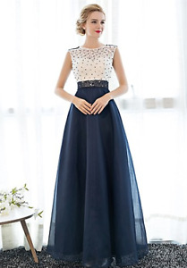 blue prom/formal dress