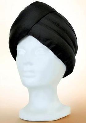 ALADDIN Genie Arabian Hindu SULTAN SHIEK SINBAD Mens Black TURBAN HAT HEADWEAR (Sultan Turban)
