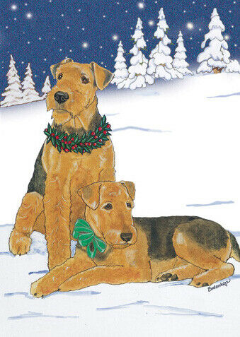 Airedale Terrier Christmas Cards Set of 10 cards & 10 envelopes