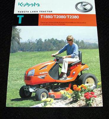 Orig Kubota T1880 T2080 T2380 Lawn Garden Tractor Catalog Brochure Very Nice