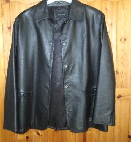 Top Quality House Of Fraser Ladies Black Leather Jacket.