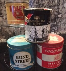 Tobacco Cans from the 1950's - Lot of 4