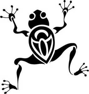 FUNKY-TRIBAL-TREE-FROG-CAR-DECAL-STICKER