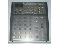 PHONIC am220.2mic/line 2-stereo compact mixer