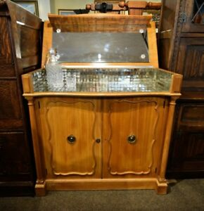 COOL VINTAGE LIFT TOP BAR CABINET WITH MIRROR AND MIRRORED TILES