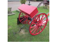 TWO WHEEL ANTIQUE FIRE CART, dating from the 1800's