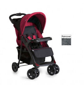 BRAND NEW HAUCK SHOPPER COMFORTFOLD NEO 2 PRAM PUSHCHAIR RED FROM BIRTH UNISEX EASY TO FOLD BUGGY