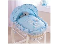 Claire de lune Ahoy Moses basket and stand