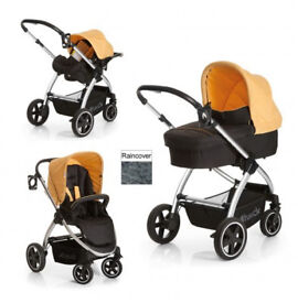 NEW IN BOX HAUCK PRIYA 3 IN 1 TRAVEL SYSTEM PRAM PUSHCHAIR FOR SPRING SUMMER UNISEX PARENT FACING
