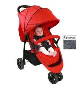 Redkite red 3 wheeler pushchair from Mothercare