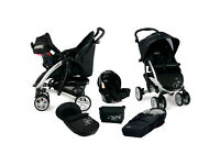 Quattro Tour Deluxe Travel System with koscot- cosy c bag shadow