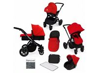Ickle bubba stomp V2 black-red travel system. Very light and easy to use! In very good condition!