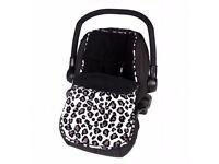 Clair de Lune fleece car seat cover