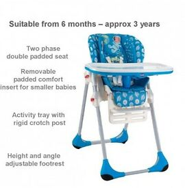 *BRAND NEW BOXED* Chicco Polly 2-In-1 Highchair - Moon
