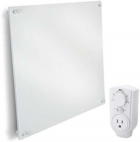 Wall Mount Space Heater Panel - with Thermostat - 400 Watt Convector Heater