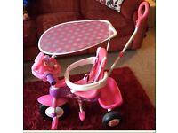 Minnie the mouse trike/bike