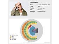 Justin Bieber Platinum Tickets x2 - SSE Hydro, Glasgow - Sun 30 Oct