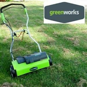 NEW GREENWORKS 14 DETHATCHER 27022 245387208 10AMP LAWN CARE LANDSCAPING